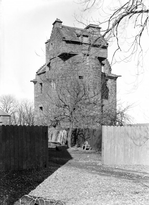 Dundee, Claypotts Road, Claypotts Castle. General view from South-West.