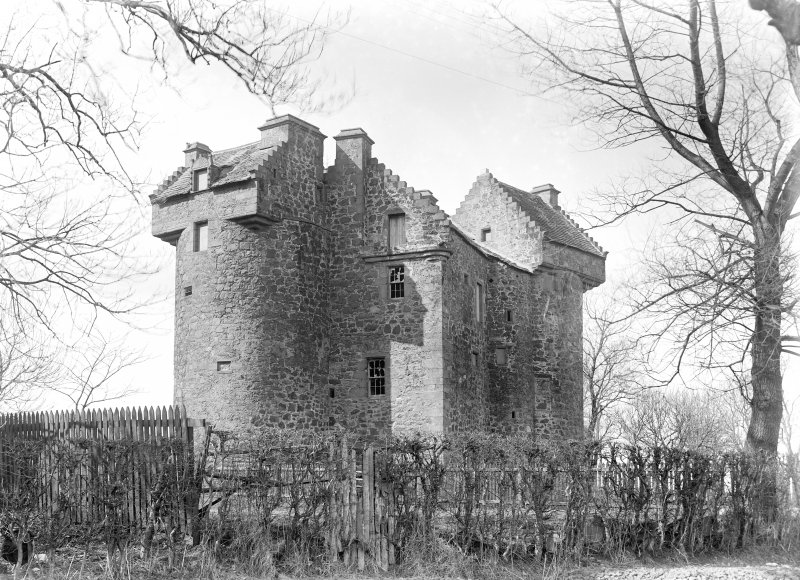 Dundee, Claypotts Road, Claypotts Castle. General view from South-East.