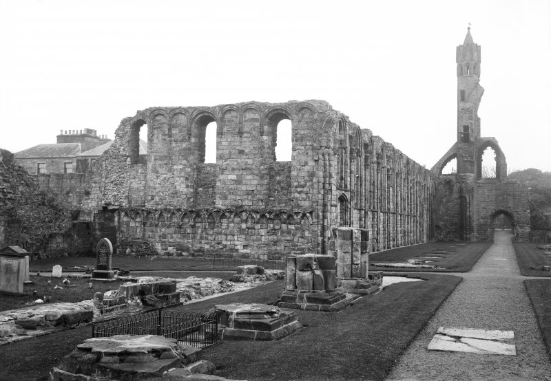 South transept & aisle looking to west turret.