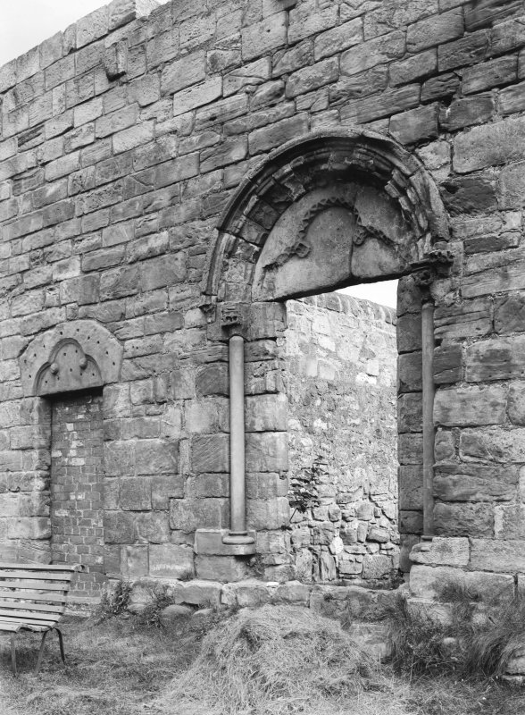 Doorways in west wall of fratery.