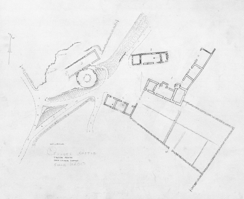 Site plan of Fordel Castle.