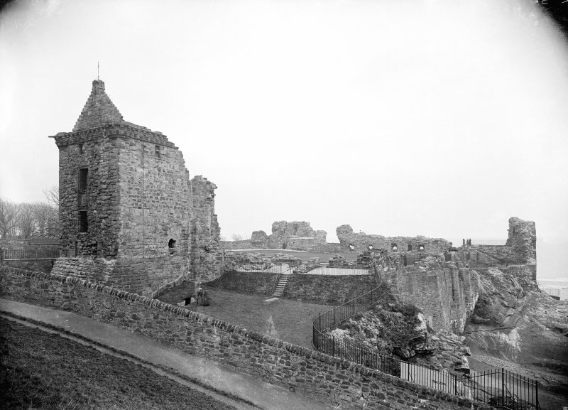 View from East of St Andrews Castle.