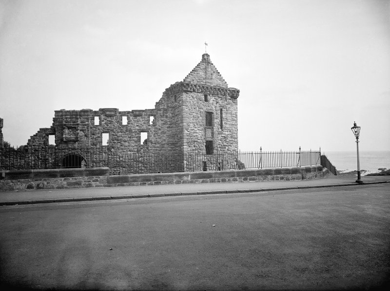 View of St Andrews Castle from road, entrance and South front.