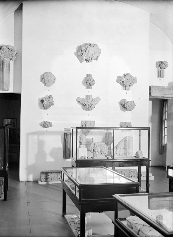 Interior. Detail of display cabinets.