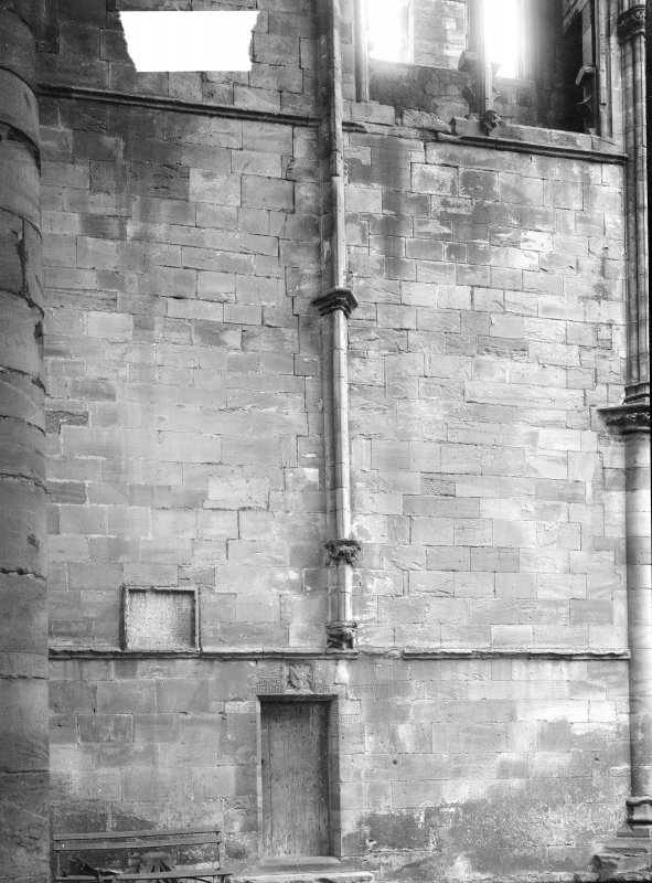 Detail of wall and pillar.