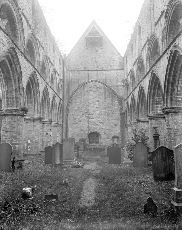 Dunkeld, Dunkeld Cathedral, interior. View of nave from West.