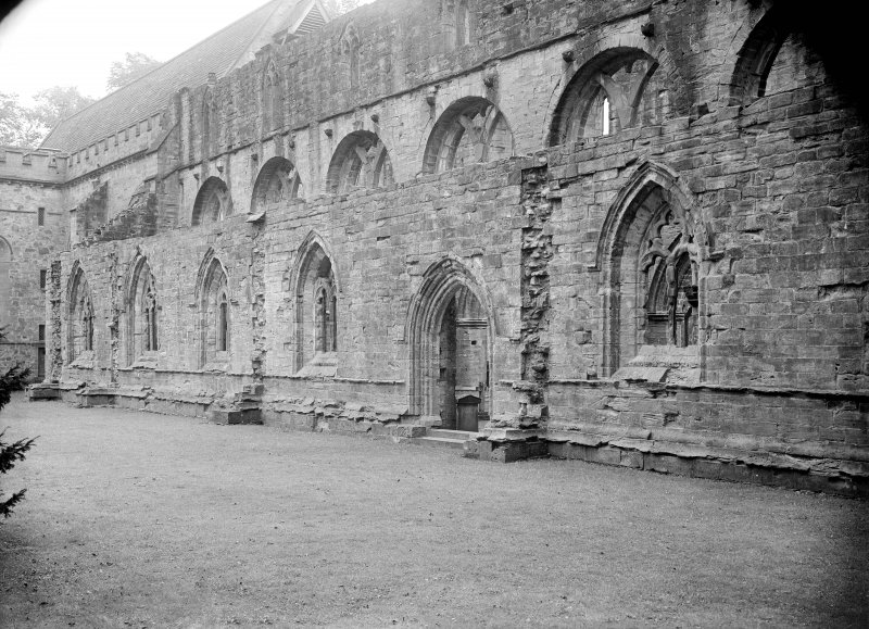 Dunkeld, Dunkeld Cathedral. View of North aisle and doorway from North-West.