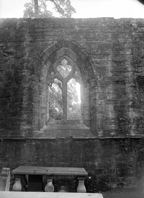 Dunkeld, Dunkeld Cathedral, interior. View of window with tracery.