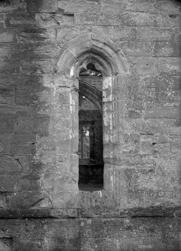 Dunkeld, Dunkeld Cathedral, Chapter House. View of lancet window.