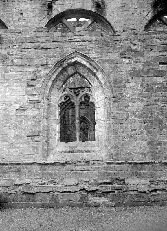Dunkeld, Dunkeld Cathedral. View of window in exterior wall.