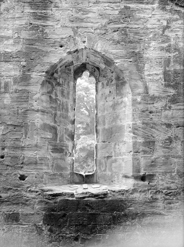 Dunkeld, Dunkeld Cathedral. View of lancet window.