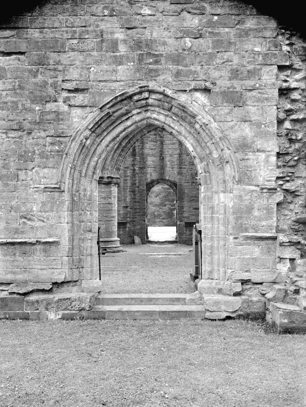 Dunkeld, Dunkeld Cathedral. View of entrance archway.