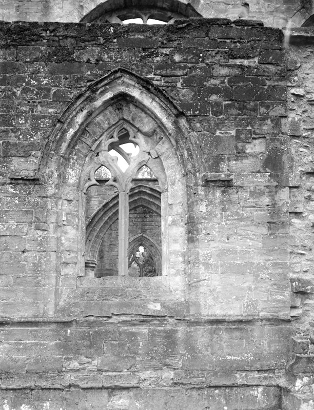 Dunkeld, Dunkeld Cathedral. View of window with broken tracery.
