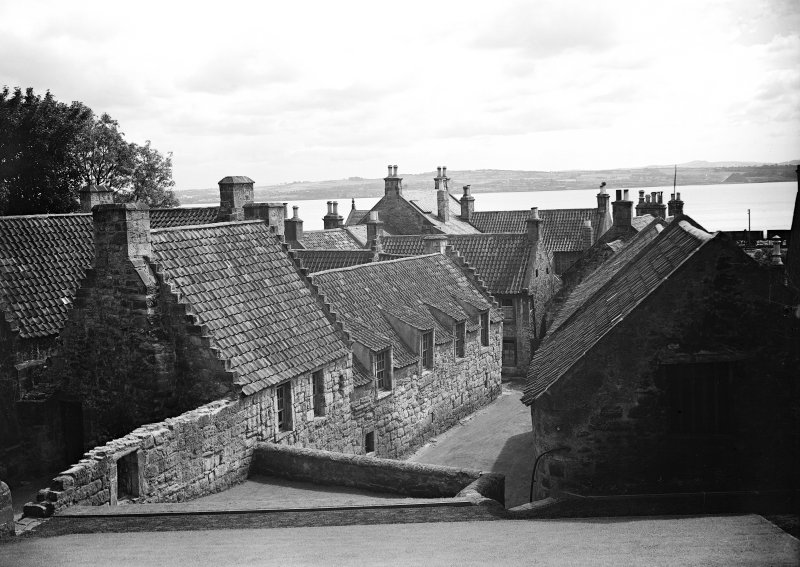 View of back of south range of Culross Palace looking to the Firth of Forth