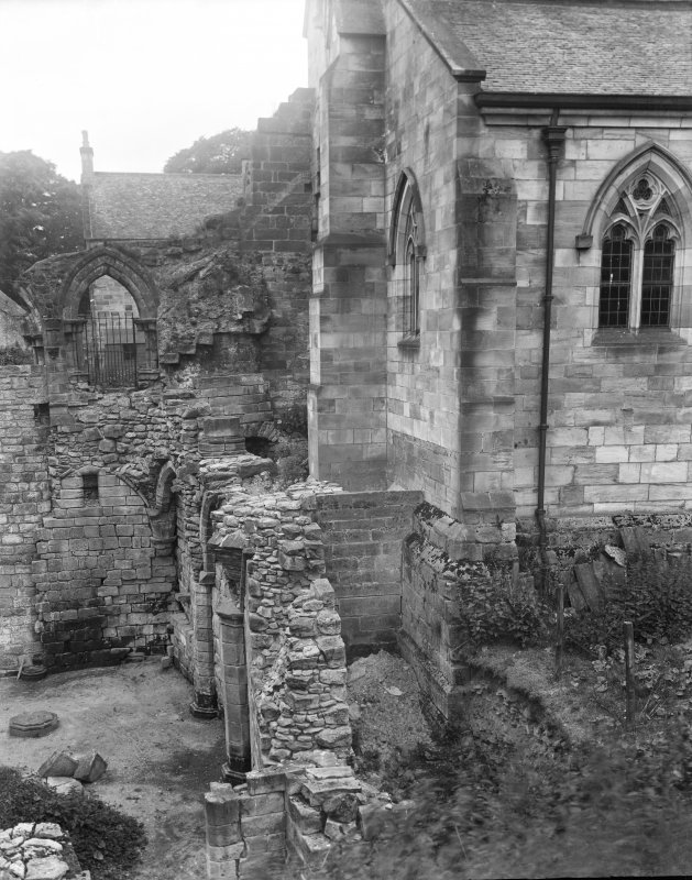 Ruined sacristy from the east