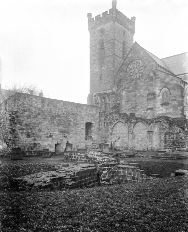 South transept, remains of sacristy and Chapter House
