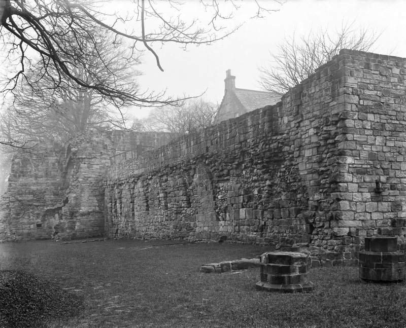 Cloister garth wall