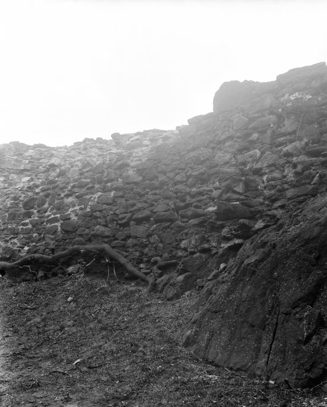 View of remains of wall.