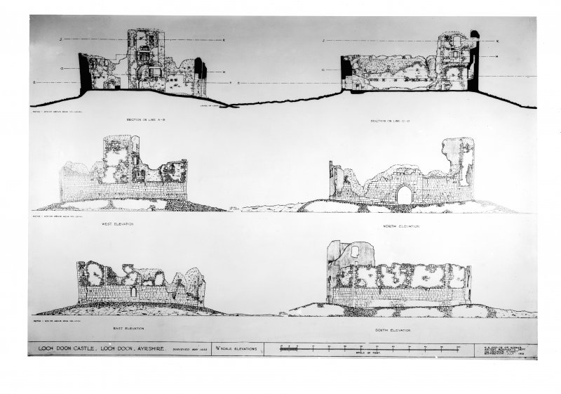 Photographic copy of drawing showing sections and elevations.