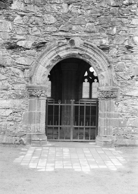 View of entrance to chapter house.