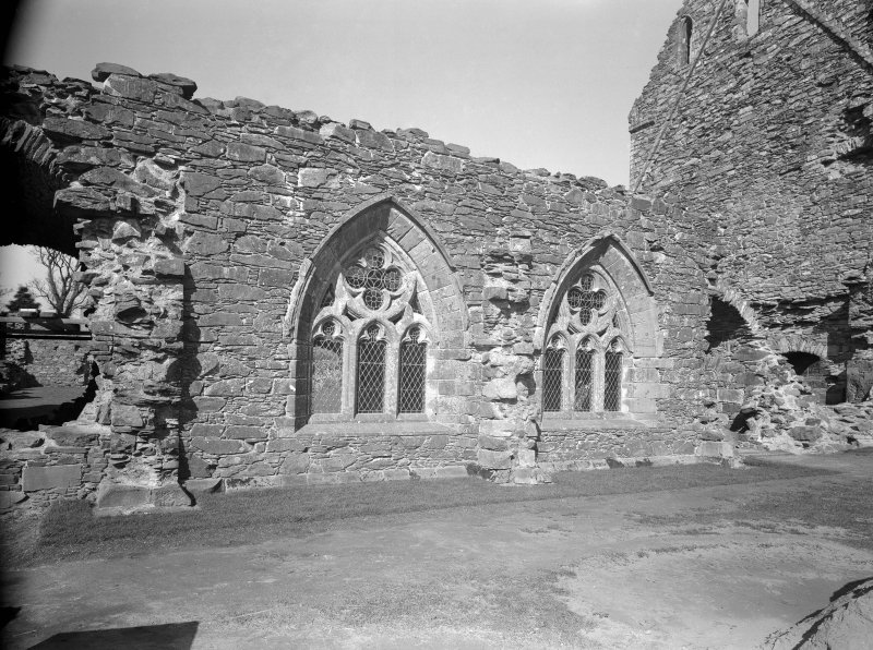 View of chapter house windows.
