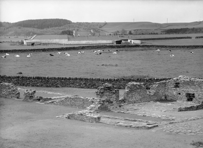 View of excavation of site.
