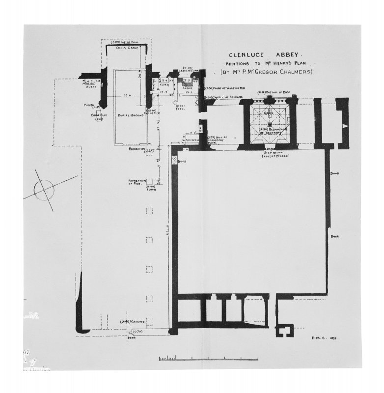 Photographic copy of plan.