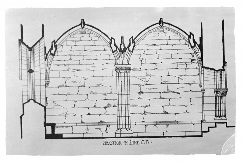 Photographic copy drawing showing elevation.