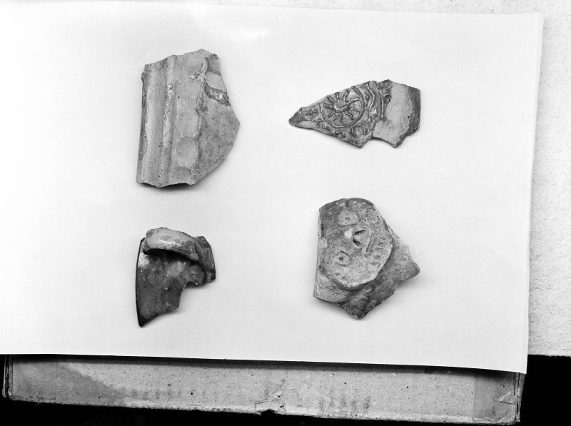 Detail of pottery fragments.