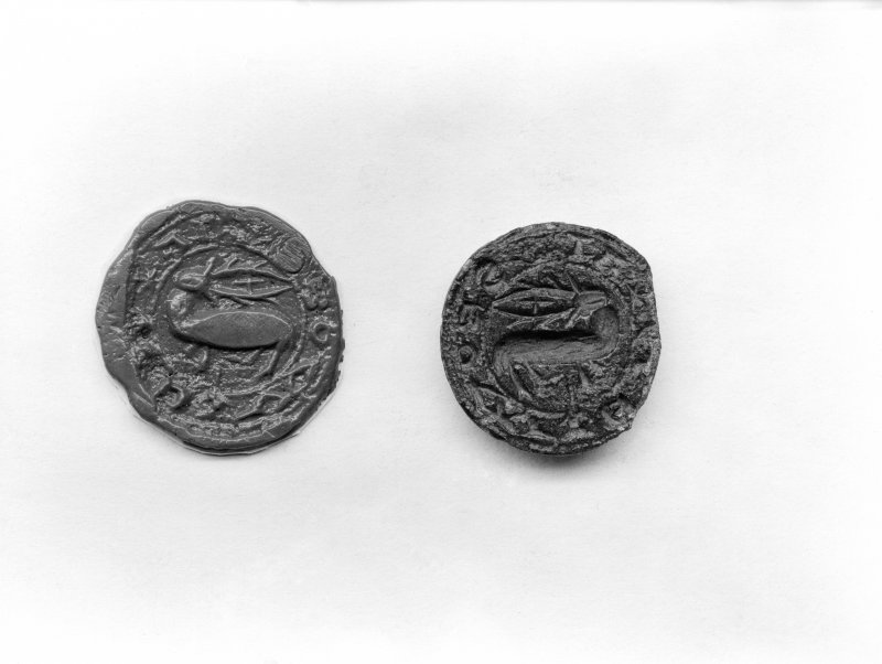 Detail of seals.