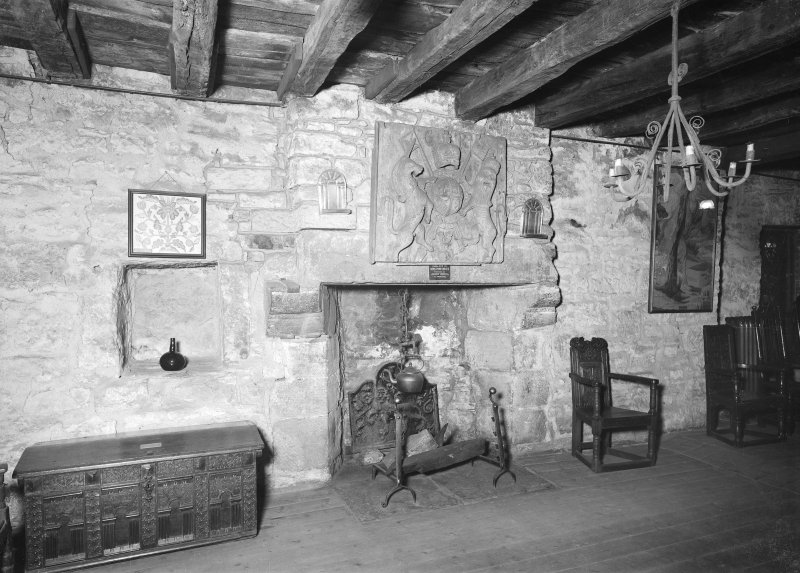 Interior view of room in Provand's Lordship, 3 Castle Street, Glasgow.