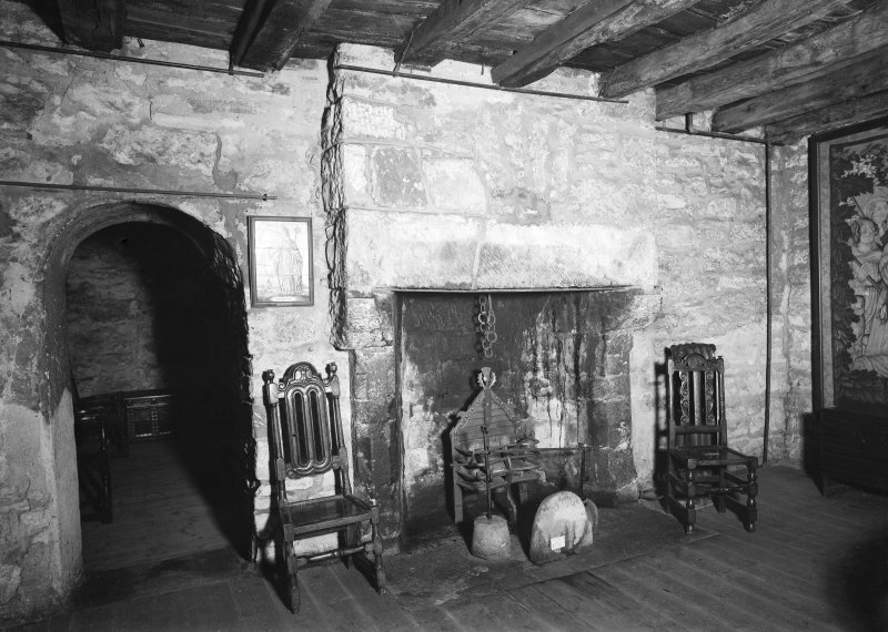 Provand's Lordship, interior View of fireplace