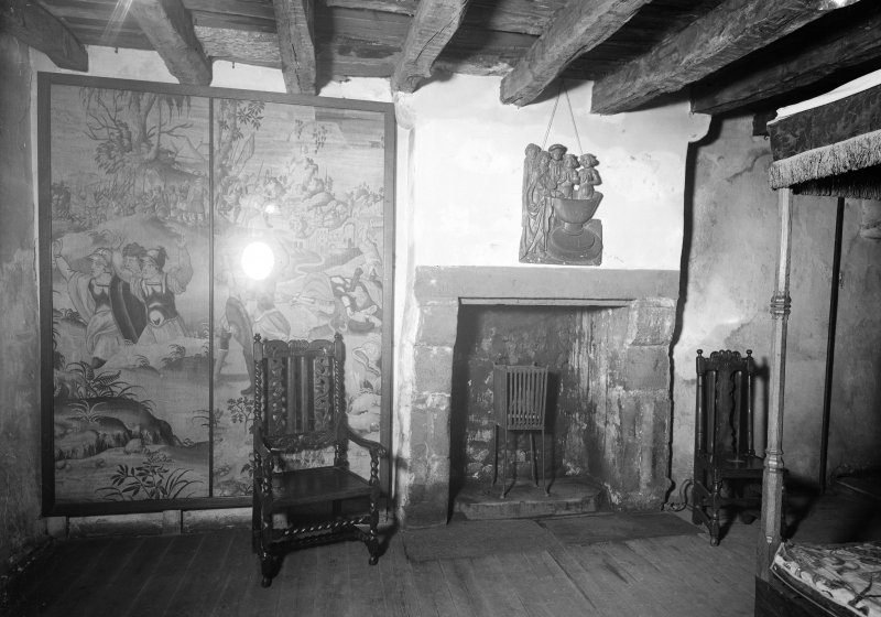 Provand's Lordship, interior View of fireplace and screen