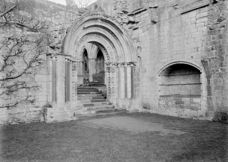 Detail of cloister entrance and recess.