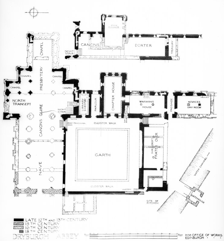 Photographic copy of site plan.