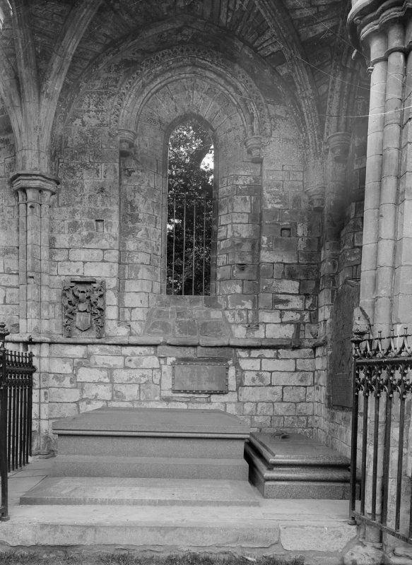Interior. Detail of Walter Scott's tomb.