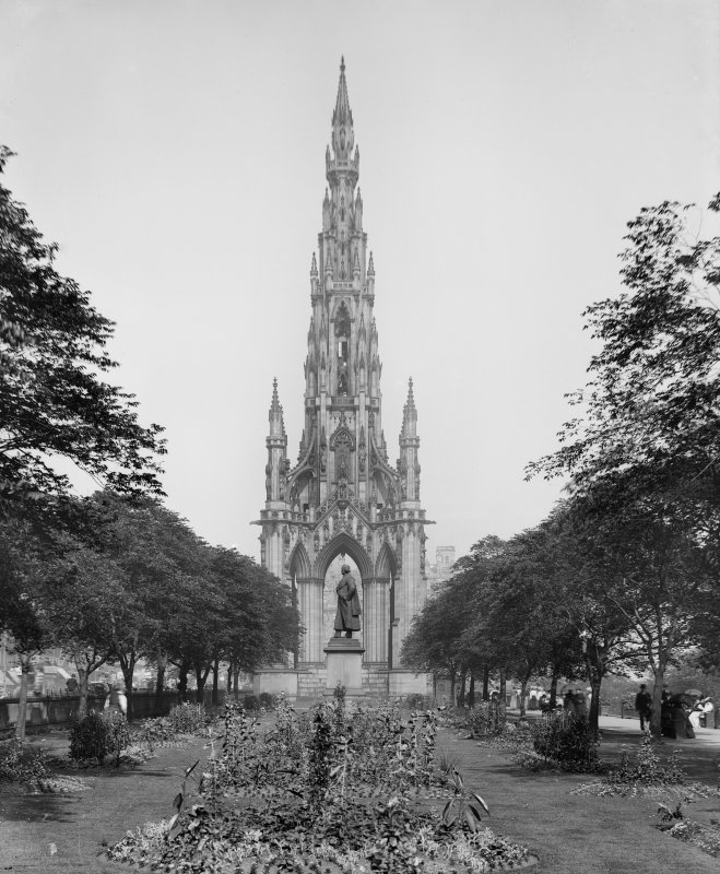 View from west of Scott Monument and gardens