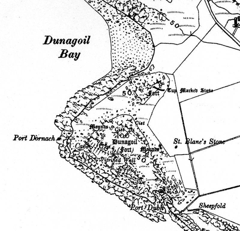 Extract from the 3rd edition of the OS 6-inch map, surveyed in 1915 and published in 1924.