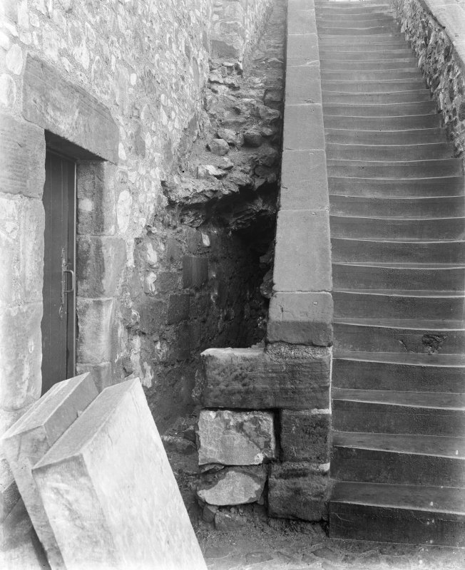 Interior.  View of back of staircase.