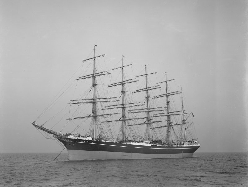 Kobenhavn at sea: Built by Ramage and Feguson for the Danish East Asiatic Company.