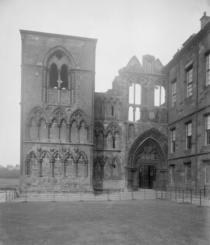 General view of West end of Holyrood Abbey (Chapel Royal)