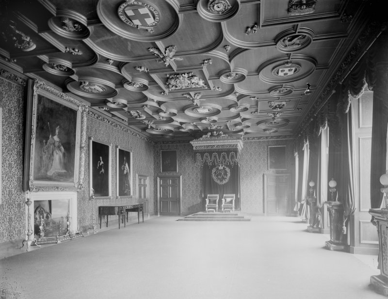 Interior-general view of Throne Room in Holyrood Palace