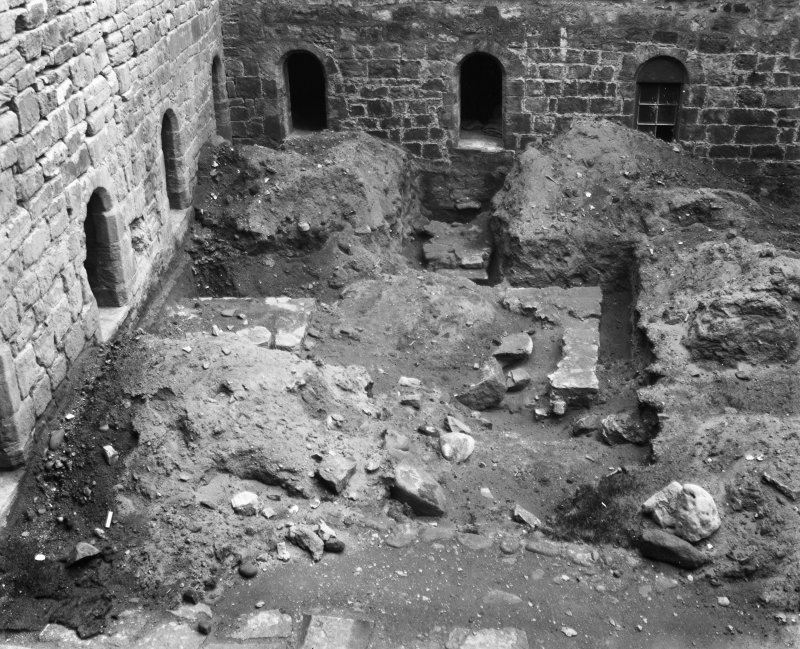 Excavation of cloister