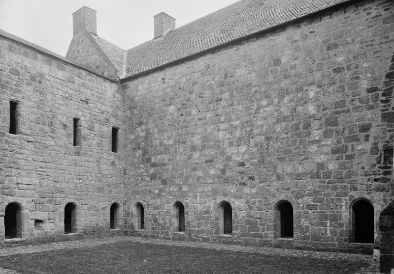 South cloister & South East corner showing windows