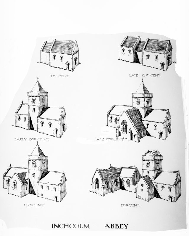 Drawings of church until the 15th century