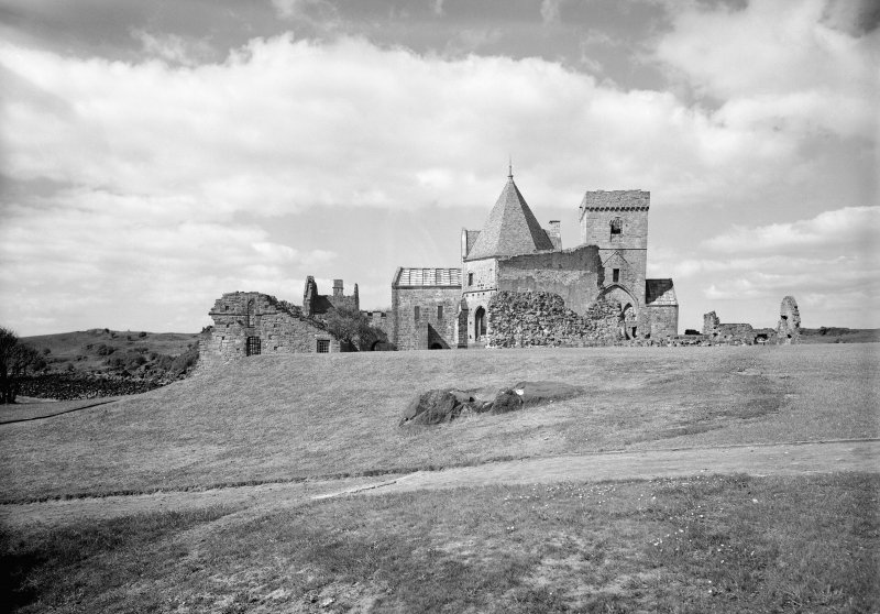 View of Inchcolm Abbey from east.