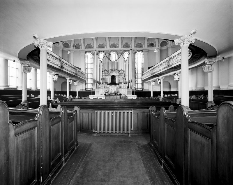 Glasgow, 18 John Street, John Street United Presbyterian Church, Interior. General view of interior from South.