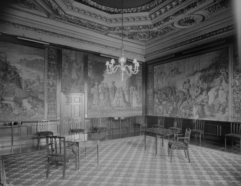 Interior-general view of South State Room in Holyrood Palace