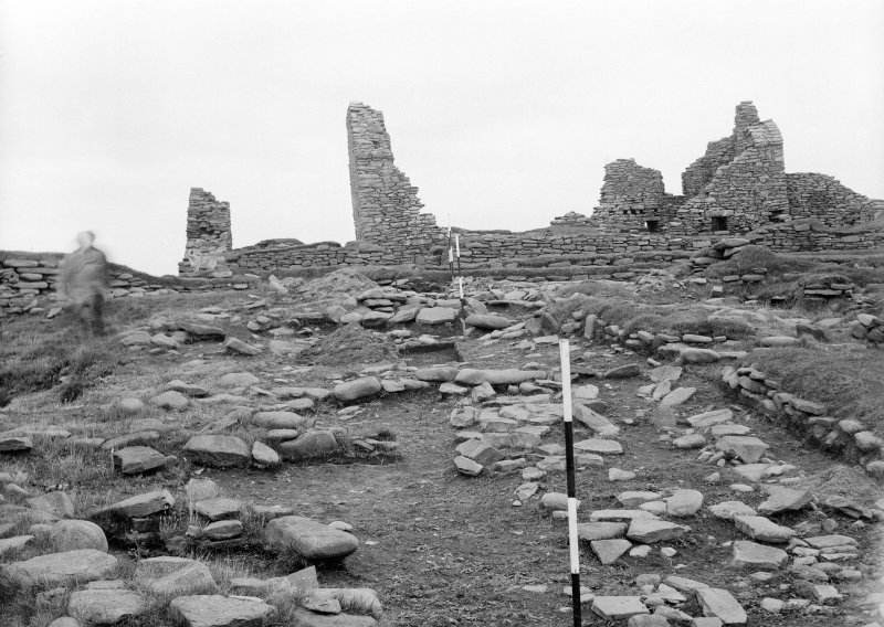 Excavation Photograph: View of Norse buildings and Laird's House.