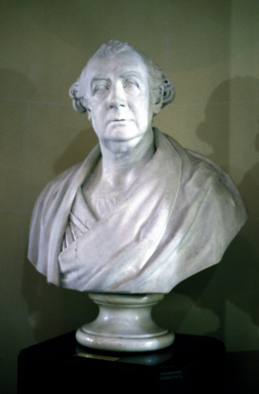 View of marble bust of James Hamilton M. D. by Samuel Joseph, 1824, ground floor E side.